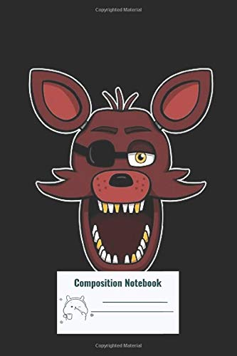 Composition Notebook: Five Nights At Freddys Fnaf Foxy Composition Notebook, College ruled
