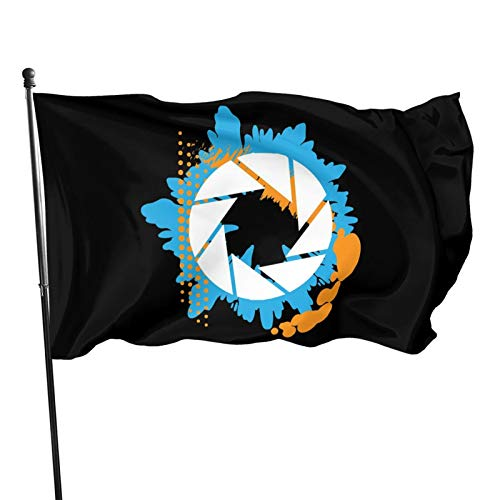 Cokiter Portal - Abstract Aperture Logo Outdoor Yard Flag Home Decor Banner Foot Flag 3x5 Ft