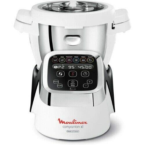 Moulinex HF806E13 Companion XL - Robot de cocina (1550 W), color blanco y plateado