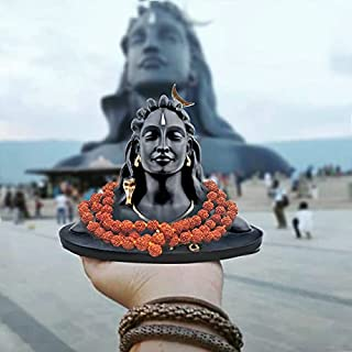 Artwork Creations A1 Quality Resin Adiyogi Statue for Car Dash Board, Pooja & Gift,for Home & Office Decore, Made in India...