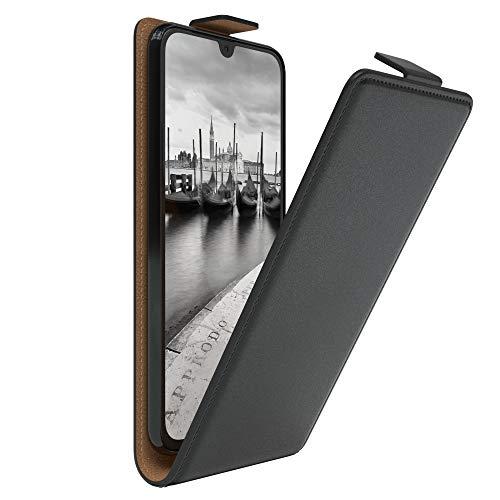 EAZY CASE Hülle kompatibel mit Samsung Galaxy A40 Flip Cover zum Aufklappen, Handyhülle aufklappbar, Schutzhülle, Flipcover, Flipcase, Flipstyle Hülle vertikal klappbar, aus Kunstleder, Schwarz
