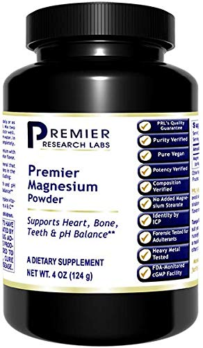Premier Research Magnesium, Magnesium Lactate Powder, 4 OZ, Highly Absorbable Source of Magnesium