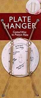 Plate Display Hangers, Spring Type, Expandable to Hold 5 to 7 Inch Plates- Gold Coated Wire -Pack of 6 Hangers