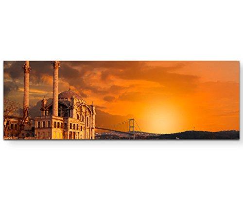 Paul Sinus Art Leinwandbilder   Bilder Leinwand 150x50cm Ortaköy-Moschee bei Dämmerung – Istanbul