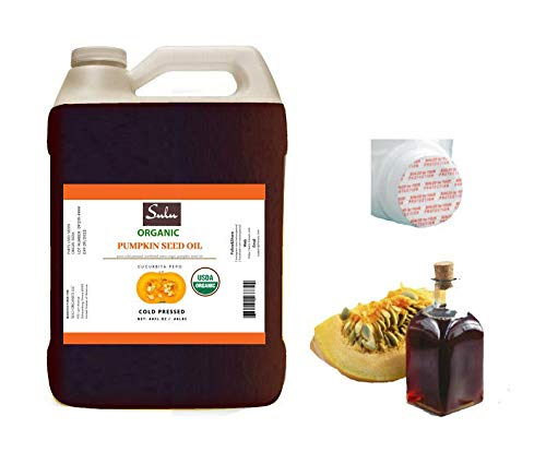 100% Pure Unrefined Virgin Pumpkin Seed Oil All Natural 4 lbs(64 fl.oz)