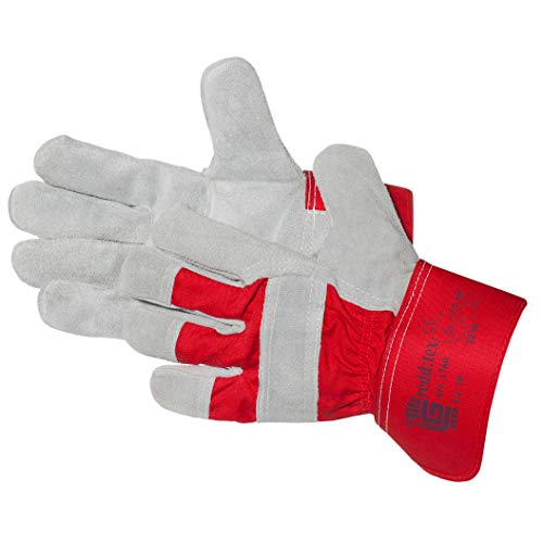 Jah 1760-9 Split Handschuh, Heavyweight, Intermediate Level., NATURAL, Größe 9, 5 Paar)