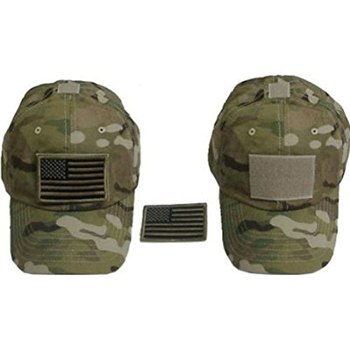 Ndier Sombrero con Bandera Americana, Gorra Militar Sombrero de béisbol Ajustable Camuflaje con Visera Deportiva