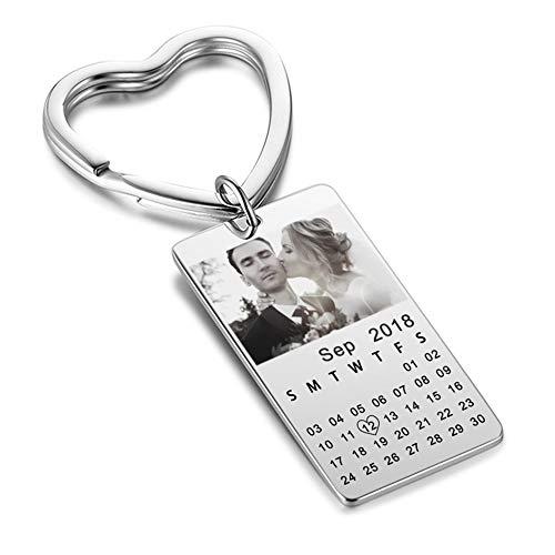 Portachiavi calendario personalizzato con foto
