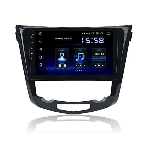 Dasaita 10.2' Android 9.0 1 DIN Radio Coche Bluetooth Manos Libres Carplay Incorporado para Nissan X-Trail Qashqai j11 Rouge 2014-2018 WiFi Dab+ GPS Mandos de Volante Bose Amp Android Auto