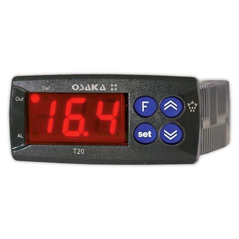 DOJA Industrial | Termostato digital OSAKA T20/F10-50°/+150° | OSAKA Con descarche, 1 Rele, (Sonda NTC)