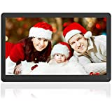 Digital Photo Frame Kenuo 17 Inch 1920x1080 High Resolution Full HD Display <span class='highlight'>Motion</span> Sensor Digital Picture Frame Auto-Rotate Electronic Picture Frame Video Calendar Clock Auto On/Off Timer(Black)