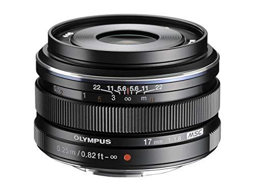 Olympus M.Zuiko Digital 17mm F1.8 Objektiv, lichtstarke Festbrennweite, geeignet für alle MFT-Kameras (Olympus OM-D & PEN Modelle, Panasonic G-Serie), schwarz