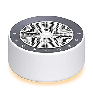 crib bedding and baby bedding letsfit white noise machine with 7-color night lights, 30 high fidelity soundtracks, full touch metal grille and buttons, timer and memory features, portable sound machine for home, nursery, office