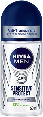 Nivea Men Deo Sensitive Protect Deoroller, Antitranspirant, 6er Pack (6 x 50 ml)