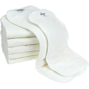 Mama Koala Bamboo Cloth Diaper Inserts (One Size Inserts-6 Pack and Newborn Inserts-6 Pack)