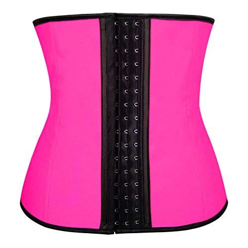 MIEMIE Entrenador de Cintura Fajas Cintura Cincher Moldeadores de Cuerpo Látex Cintura Cinche Látex Adelgazante Rosa
