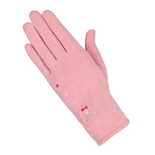 MMGCHandschuhe Reithandschuhe Süße Weibliche Touchscreen Warme Winddichte Kaninchen Plüsch Baumwollhandschuhe