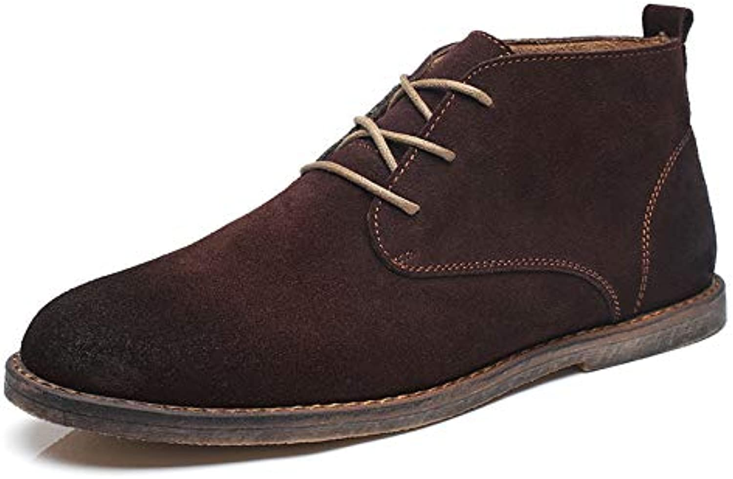 LOVDRAM Boots Men's Martin Boots Men'S shoes Casual Booties Wild Tooling Boots Scrub Cotton Desert Boots