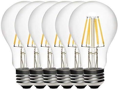 GOBULB A19 6-Watt Dimmable Light Filament with 2700K 業界No.1 店 LED Bulbs