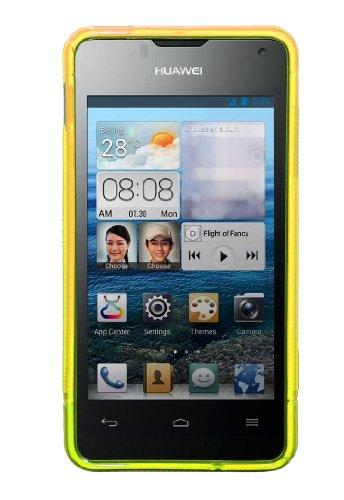 Luxburg® S-Line Design Schutzhülle für Huawei Ascend Y300 in Farbe Goldgelb/Gelb, Hülle Case aus TPU Silikon - 3