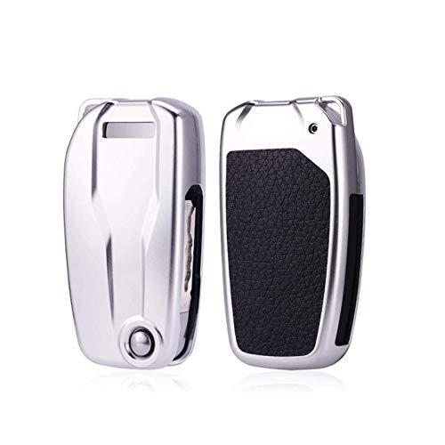 Cubierta de aleación de aluminio para llave de motocicleta, para Ducati MTS1260S MTS950S Motor Car Key Protection Cover Case Smart Key Accesorios 1 pieza (Plata)