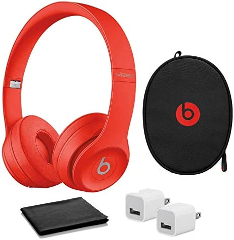 Beats by Dr Dre Solo The Beats Icon Collection Wireless On Ear Headphones Red with USB Adapter product image