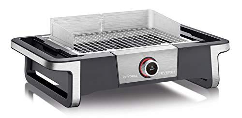 Severin SENOA DigitalBOOST PG 8114 Grill mit SafeTouch-Gehäuse, BoostZone 500°C und Timer, 3000 Watt - Schwarz