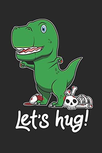 Let's Hug: 6x9 Zoll ca. DIN A5 Einhorn Notizheft liniert | 120 Seiten liniertes Einhorn Notizbuch für Notizen in Schule, Universität, Arbeit oder zuhause. | Eine tolles Geschenk für Ihre Liebsten.