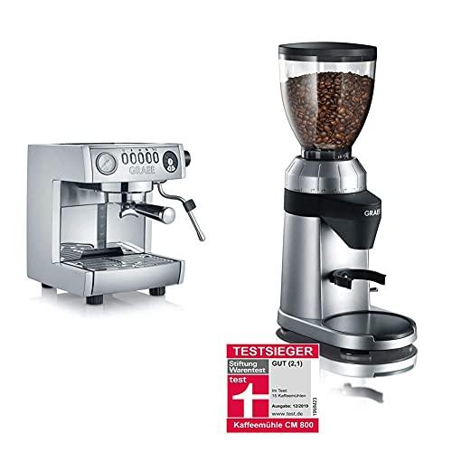 Graef ES850EU Espressomaschine, 2.5 liters & Kaffeemühle CM 800