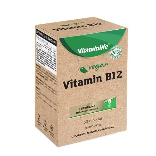 VITAMIN B12 (+ SPIRULINA - Arthrospira platensis) VEGAN, Vitaminlife, Cápsula Branca