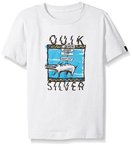 Quiksilver Boys Short Sleeve Graphic Tee, W-White, 6