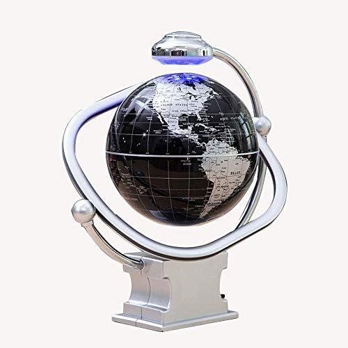 SUN EAGLE Craft Globe 8-Zoll-Magnetaufh ung Globe ZWeißege-Beleuchtungsrotation Zum Lernen Von Unterricht Oder Schreibtischdekoration,Black