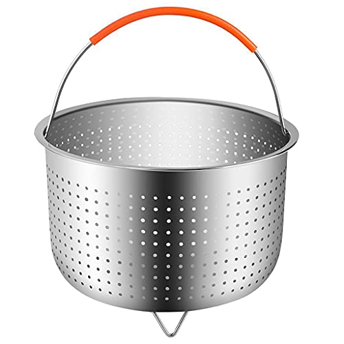 Haorw Kitchen Stainless Steel Steamer Basket with Silicone Handle for Pressure Cooker