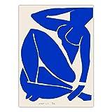 Carteles e impresiones de lienzo de arte desnudo azul de Henri Matisse pinturas en lienzo sin marco de arte desnudo para la decoración de la sala de estar Al.50x70cm