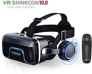 2019 Google Cardboard VR shinecon Pro Version VR Virtual Reality 3D Glasses +Smart Bluetooth Wireless Remote Control Gamepad