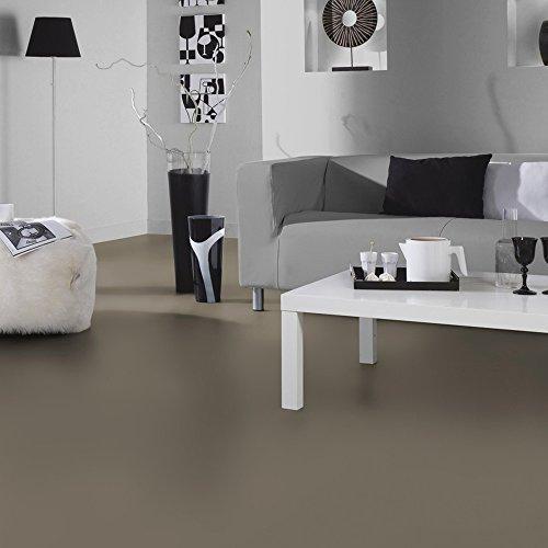 livingfloor® PVC Bodenbelag Fotohintergrund Einfarbig Taupe in 2 m Breite, Länge variabel Meterware, Größe:0.20x0.20 m | Muster