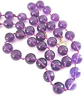 Zoya Gems & Jewellery New Amethyst 8mm Bead Necklace