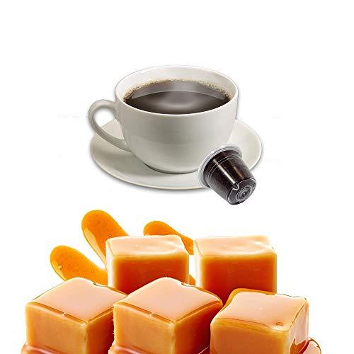 50 Capsule al Caramello Compatibili Nespresso - Bevanda solubile in Cialde Caffe Kickkick