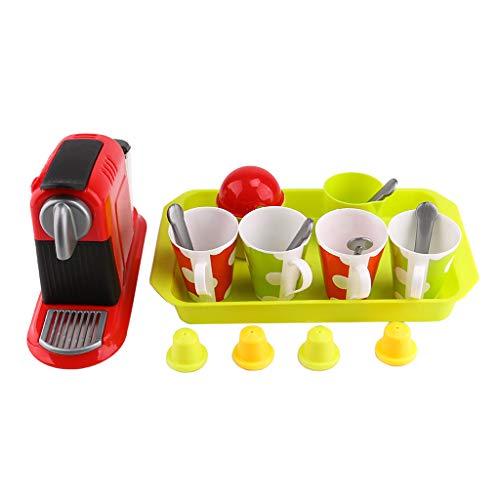Homyl 21 Pz Set Cucina Prescolare Macchinetta caffè Plastica Miniatura Bambini Regalo