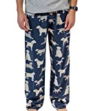 Lazy One Animal Pajama Pants for Men, Men's Separate Bottoms, Lounge Pants, Dog, Puppy (Labs, Medium)
