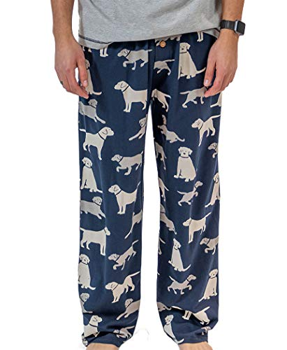 Lazy One Animal Pajama Pants for Men, Men's Separate Bottoms, Lounge Pants, Dog, Puppy (Labs, Large)