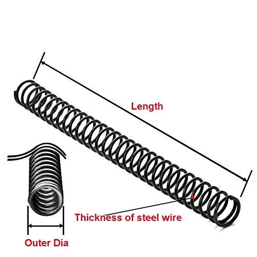 NO LOGO L-Yune, 1PCS Federstahldruckfeder Y-Typ-Druckfeder-Draht-Durchmesser 0,3/0,4/0,5 mm Äußerer Durchmesser 3-6mm Länge 305mm (Größe : 0.4x4x305mm)