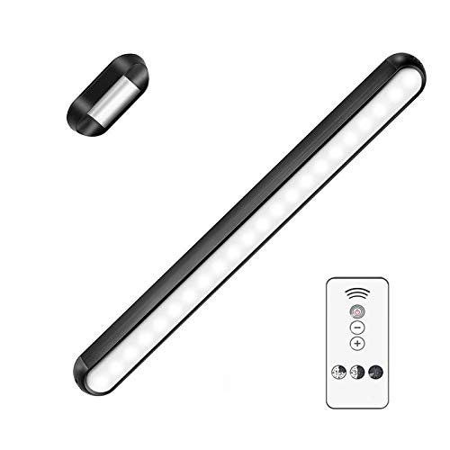 Dimmable Touch Light Bar with Remote Control Wall Reading Lights Stick on Bunk Bed Lamp Magnetic Mounted Under Cabinet Lighting Rechargeable Battery Operated Wireless LED for Vanity Makeup Mirror
