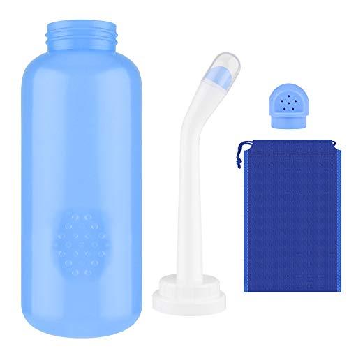 Bidé Portátil 500Ml Botella Bidé de Viaje con 2 Boquillas Botella Perineal para Mujeres Embarazadas Cuidado de Limpieza Posparto Niños Y Ancianos Botella de Spray de Bidé de Gran Capacidad