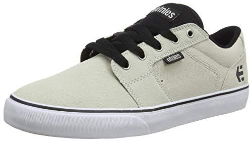 Etnies Men's Barge LS Skate Shoe, White/Black/Silver, 13 Medium US