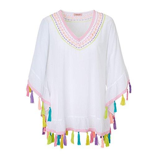 Lykkelig Bluse Weiß L/XL Weiß Größe L/XL