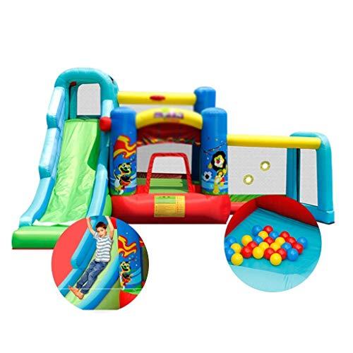 YAMMY Inflables Castillos hinchables Zona de Juegos para niños Los niños se Deslizan La Cama Inflable Cuadrada al Aire Libre Adecuado para Parques Natación (Piscina)