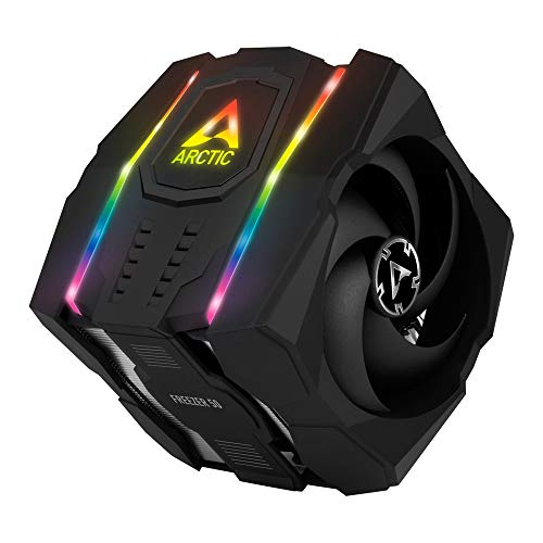 ARCTIC Freezer 50 - Multi Compatible Dual Tower CPU Cooler with A-RGB CPU Cooler for AMD and Intel, Two Pressure-Optimised Fans, 6 Heatpipes, MX-4 Thermal Paste Included