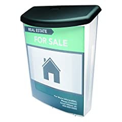 Fits a variety of posts and poles (mounting hardware included). Holds letter, legal and A4 documents. Sleek, break-resistant outdoor box with a clear, visible front for easy viewing.