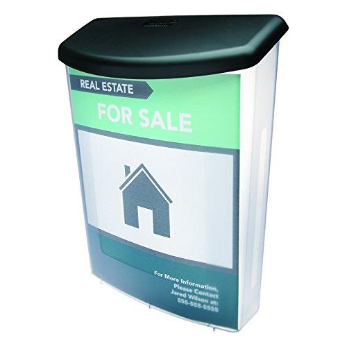 Deflecto 790901 Boîte à Documents d'extérieur Transparent/Noir 25 x 11 x 13 1/8 cm